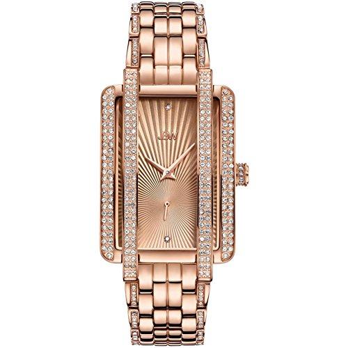 JBW Mink Donna Diamante quarzo quadrante rosa analogico orologio j6358C