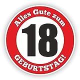 Werbeagentur Finkbeiner Geburtstag Verkehrszeichen 18 Jahre - 30cm auf 2mm Hartschaumplatte - Beschreibbar