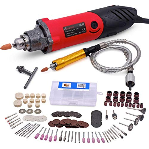 fishElectric Mini Drill Variable Speed Multi-Functional Rotary Tools with 141pcs Kit forStyle with Flexible Shaft,EU,Set 4,Russian Federation -