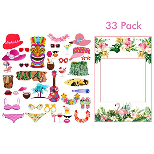 Amycute 33 PCS DIY Photo Booth Props