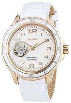 Seiko Damen-Armbanduhr Analog Automatik Leder SSA882J1