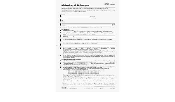 Brunnen Mietvertrag Wohnungen A4 6 Seiten 5 Verträge Amazonde