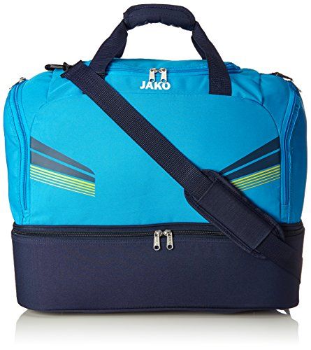 JAKO Sporttasche Pro mit Bodenfach Blau/Marine/Citro