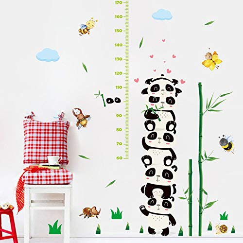 Grau-stack (Cartoon Stack Animals Wall Stickers Height Ruler Measure Children'S Room Kids Room Nursery for Party Art Mural Poster)