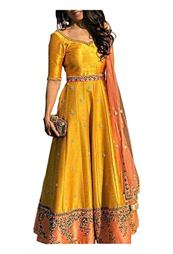 Gowns for women party wear lehenga choli for women party wear salwar suits for women stitched dress materials for women navratri special Long Gown salwar suits(Shivam Embroidery)