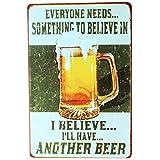 Placa metálica estilo retro, KTV Pub, cerveza, vino, placa metálica, póster para pared para decoración de hogar o café., A, 30 x 20 cm