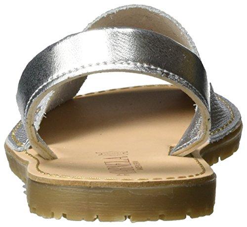 XTI Damen Silver Metallic Ladies Shoes Offene Sandalen Silber (Silver) x4cfLU