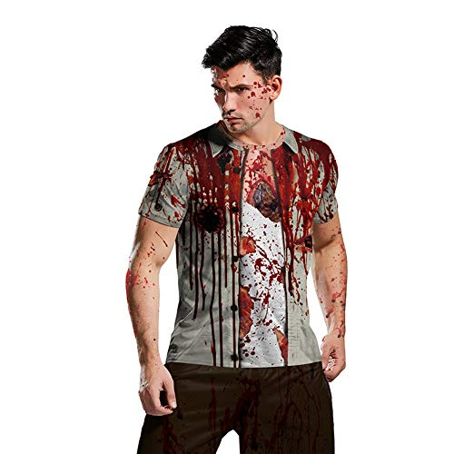 XIXICLOTHES Halloween Horror Cosplay T-Shirt Thriller Zombie Kostüm Kurzarm Anime Cartoon - Thriller Zombie Kostüm Bilder