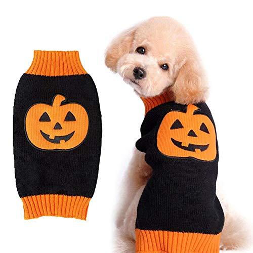 Catkoo Happy Halloween Haustier-Kleidung, Moster Print Weste T-Shirts Kleidung Kleidung für kleine Hunde Katzen Welpen - Happy Kostüm Haustier