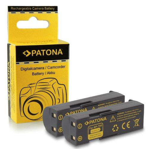 2x Bateria Konica Minolta NP-700 | Pentax D-LI72 | Samsung SLB-0637 | Sanyo DB-L30 para Konica Minolta DiMAGE DG-X50-K | DG-X50-R | DG-X50-S | X50 | X60 | Pentax Optio Z10 | Samsung L77...