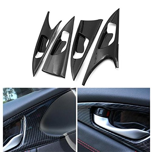 4pcs ABS Carbon Fiber Style Side Door