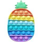 Pop It Ananas, Rainbow Pop It Fidget Toy Push Pop Bubble Sensory Toy TDAH Autisme Besoins Spéciaux Jouet Anti Stress pour Enf