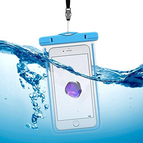 Arktis Wasserdichte Smartphone Schutzhülle Beachbag - Orange Blau