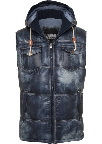 Urban classics vest to aspect jean-homme-coupe regular fit 567 Bleu - Bleu denim