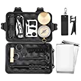 Finether-Kit de Supervivencia Militar Profesional Herramientas Multifuncionales Kit de...