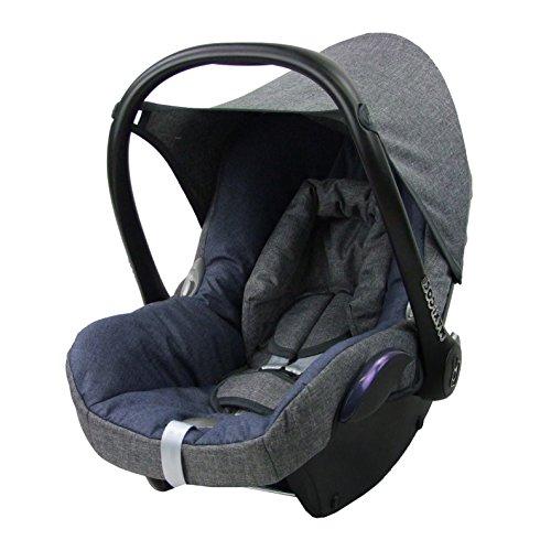 BambiniWelt Ersatzbezug für Maxi-Cosi CabrioFix 6 tlg. GRAU / MARINE *NEU* Bezug für Babyschale Sommerbezug Cabrio Fix - 3