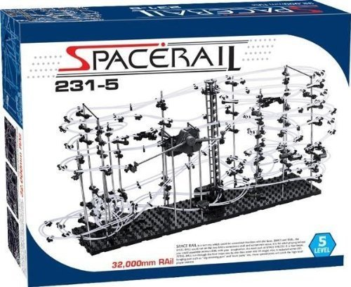 Little Treasures Space Rail Level 5 Marble Roller Coaster Kit with Steel Balls 32,000mm Rail Spacerail Spacewarp Model # 231-5 - Great Educational Toy for Boys and Girls
