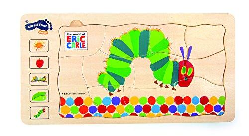 Small Foot Design 10431 Holzpuzzle Raupe Nimmersatt Schichtenpuzzle, mehrfarbig (1 Stück)