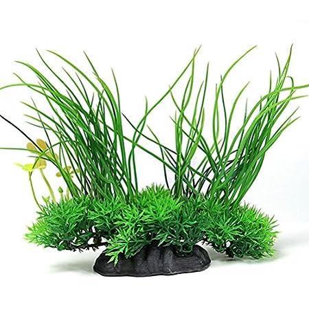 LUOEM Wasserpflanze Aquarium Dekoration Kunstpflanze Landschaft