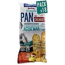 Pack 18 Palitos de pan de cacahuetes Mediterránea, bolsa de 90 gramos, elaborados con
