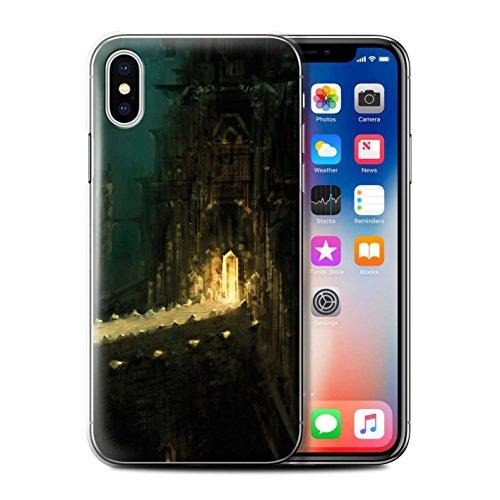 Offiziell Chris Cold Hülle / Case für Apple iPhone X/10 / Apokalypse Muster / Gefallene Erde Kollektion Dragonfel Tempel