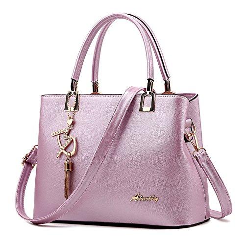 Blu Marina Borsa a Tracolla Fashion Borsa in Pelle PU Elegante Da Donna Borse a spalla Borse a tracolla per le signore Pink Borsa