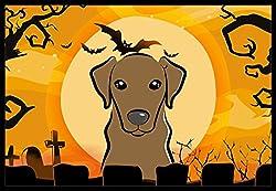 Carolines Treasures Halloween Chocolate Labrador Indoor or Outdoor Mat, 24 by 36, Multicolor
