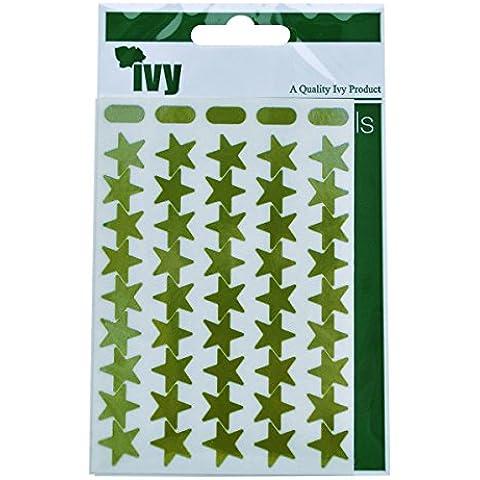 Ivy Stickers - Pegatinas con forma de estrella, color dorado metálico