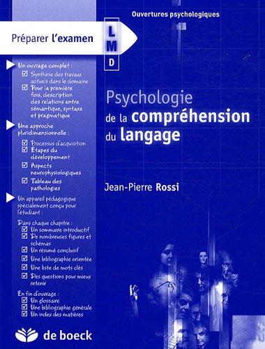 Psycologie de la compréhension du langage