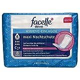 facelle diskret Hygiene-Einlagen maxi Nachtschutz 1 x 8 Stück bei leichter bis mittlerer Blasenschwäche, aktiver Geruchsschutz, optimale Passform, hohe Saugleistung, Medizinprodukt