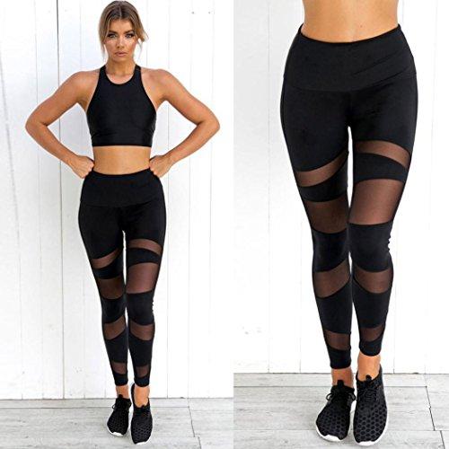 Donne Pantaloni Sportivi Atletici Di Forma Fisica Di Allenamento Di Yoga Di Sport Neri Delle Donne Leggings Fitness Abbigliamento Elastico Delle Ghette Delle Donne Pantaloni Morwind Nero
