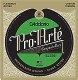 D\'Addario Cordes en nylon composite noir pour guitare flamenco D\'Addario Pro-Arte EJ25B