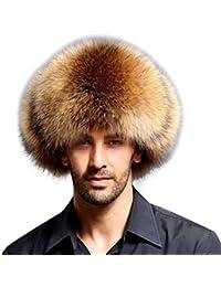 fa66595fbab7d Frcolor Sombrero de Cuero Artificial Faux Fur Northeast Winter Warm Hat  para Gorra de Mediana Edad