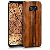 kalibri-Holz-Case-Hlle-fr-Samsung-Galaxy-S8-Plus-Handy-Cover-Schutzhlle-aus-Echt-Holz-und-Kunststoff-aus-Lindenholz-in-Braun