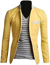 Jeansian Moda Chaqueta Traje Blusas Chaqueta Hombres Mens Fashion Jacket Outerwear Tops Blazer 9050
