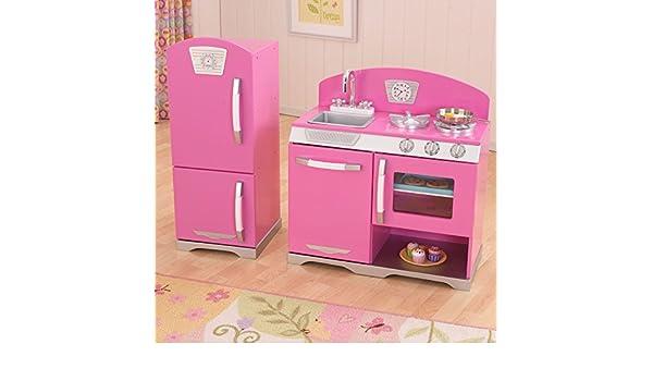 Side By Side Kühlschrank Pink : Kidkraft retro kinderküche und kühlschrank rosa amazon
