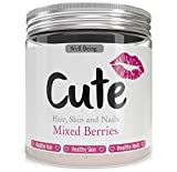 Premium Hydrolysed Bovine Collagen Powder for Healthy Hair Skin and Nails - Mixed Berries Flavoured Daily Protein Supplement - Delicious Tasting Anti Aging Drink Mix With Added Vitamins and Minerals - Gluten Soy GMO & Preservative Free