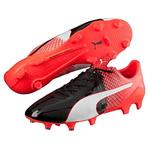 Puma Herren evoSPEED 1.5 Tricks FG Fußballschuhe, 45 EU schwarz - weiß - rot