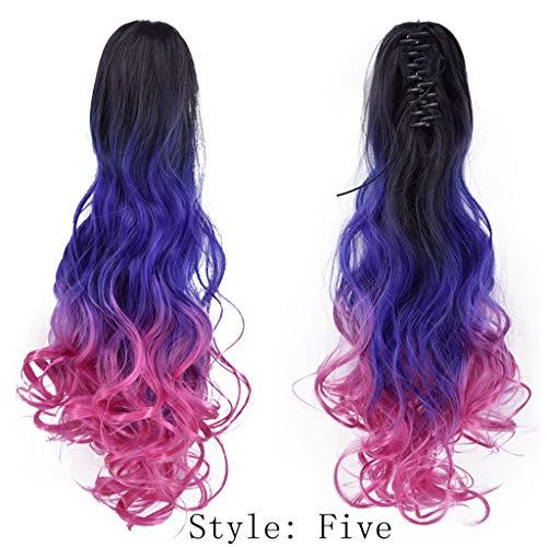Rifuli® Lange Haare Perücke Damenmode Perücke braune synthetische Haar lange Perücken Welle lockige Perücke Styling Perücken wig ()