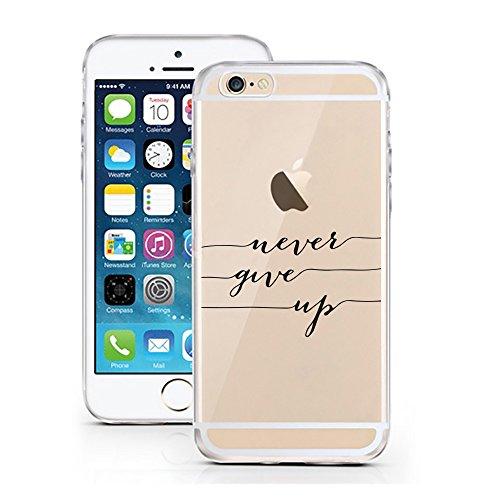 iPhone 6 6S Hülle von licaso® für das Apple iPhone 6 aus TPU Silikon Not my PROB-LLAMA Lama Spucke Style Muster ultra-dünn schützt Dein iPhone 6S & ist stylisch Schutzhülle Bumper in einem (iPhone 6 6 never give up