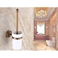 SBWYLT-Bagno in ottone antico stile europeo Servizi igienici WC spazzola
