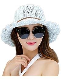 Kentop Sombrero Sombrero de Paja con protección de Sol Playa Sombrero  Verano Sombrero Mujer 6da753693ca