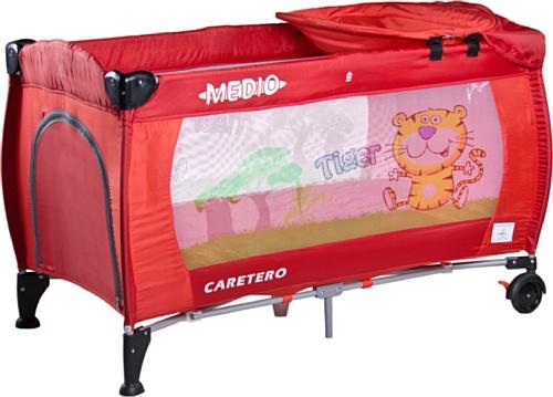 Preisvergleich Produktbild Caretero Medio Safari, Reisebett, rot
