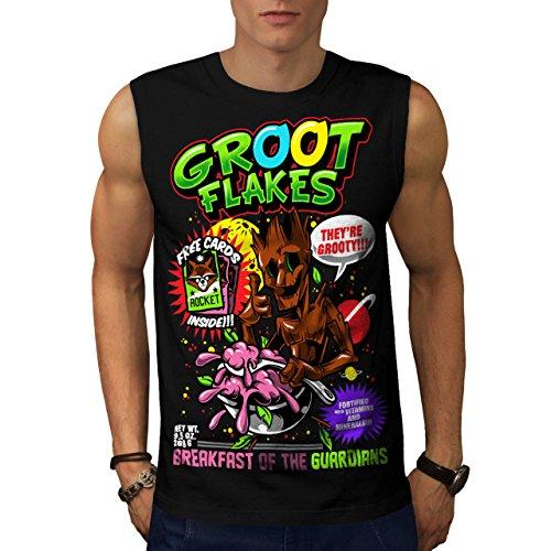 groot-flakes-comic-cereal-hero-men-new-black-m-sleeveless-t-shirt-wellcoda