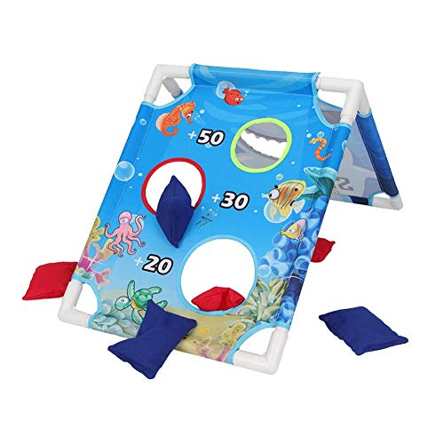 Brownrolly Cornhole Bean Bag Wurfspiel-Set, tragbares Sport-Sandsack-Board-Set mit 6 Sitzsäcken & Reise-Tragekoffer für Outdoor-Garten-Spiel (Werfen Tasche Boards)