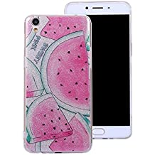 Ecoway Oppo R9 Case Cover, IMD Anti-scratch shockproof Fashion Case Protective Cover Cell Phone Case for Oppo R9 - watermelon