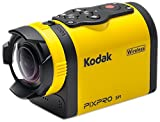 Kodak PIXPRO SP1 Action Cam with Explorer Pack 14 MP Water Shock Freeze Dust Proof Full HD 1080p Video Digital Camera and 1.5 LCD Screen Yellow