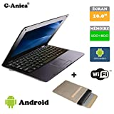 G-Anica Netbook Ordinateur Portable HDMI écr.10.1'- (WiFi, Ethernet, 1.5GHz 1Go+...