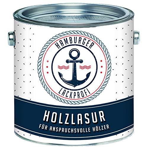 Hamburger Lack-Profi Universale Holzlasur AUSSEN Mahagoni Seidenglänzend & Innen besonders atmungsaktiv & UV beständig (5 L) -