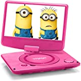 Voyager VYCDVD9-PNK 9 inch Swivel Screen Portable DVD Player with Internal Battery - Pink